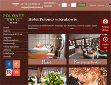 Tablet Preview of hotelpolonez.pl